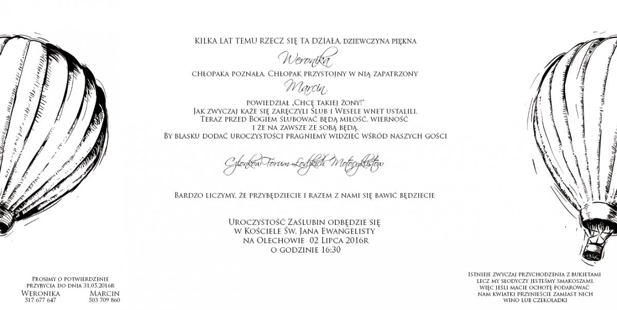 Zaproszenie Na ślub Weroniki I Marcina Spotkania Okolicznościowe