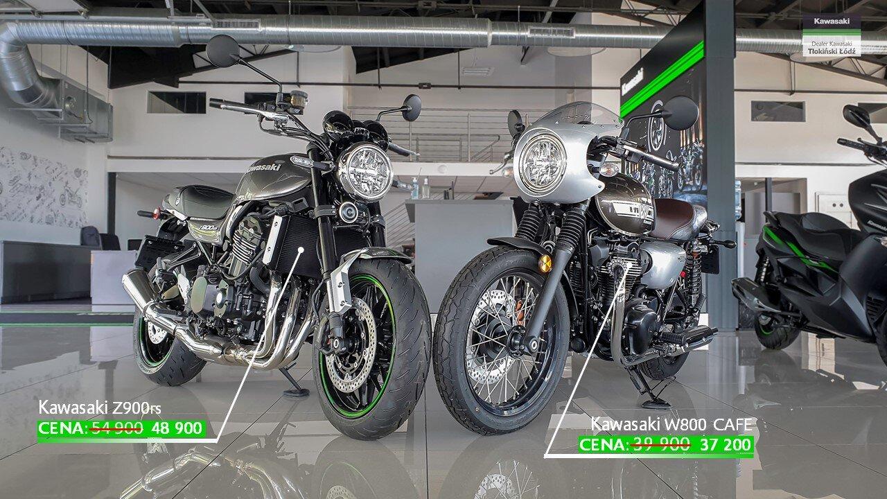 Kawasaki W800 Cafe i Kawasaki Z900rs